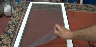 como cambiar la tela mosquitera fácilmente