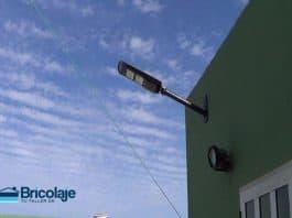 soporte farola solar led