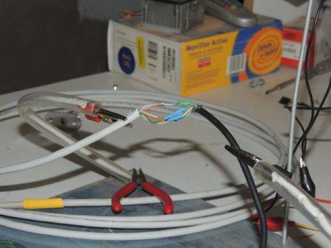 unión entre cable utp y cable usb
