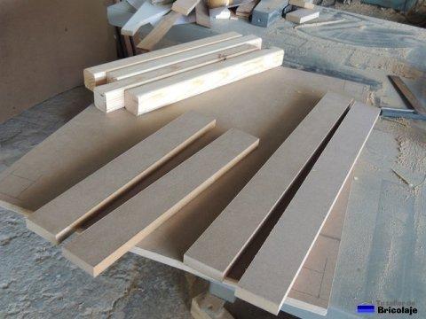 despiece de la mesa de madera para niños