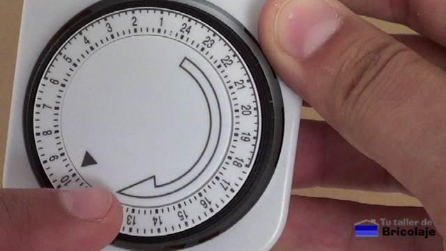 los números indica las horas del día