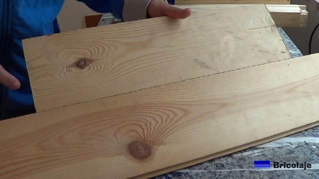 usaremos para hacer la cubierta de la mesa con madera machimbrada