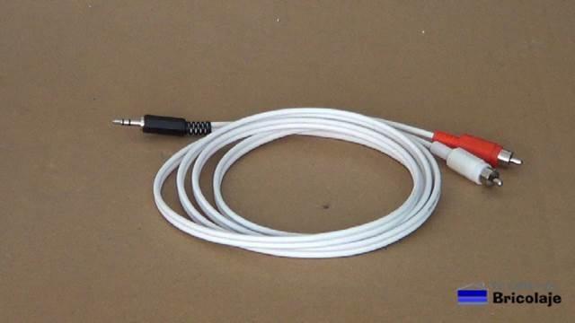 cómo hacer un cable mini jack a rca