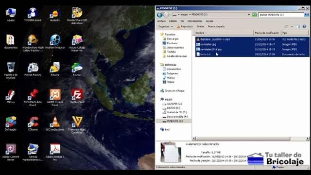 seleccionando los archivos para borrarlos y así poder comprobar la efectividad del recuva