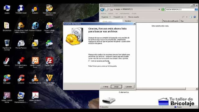 pantalla antes de iniciar el escaneo