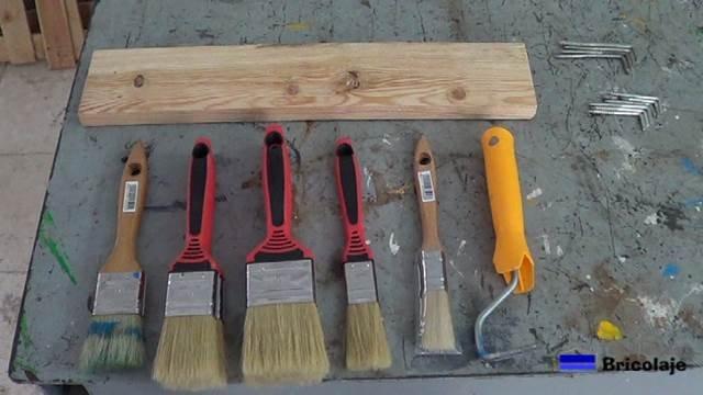 brochas y rodillos a organizar en nuestra zona de trabajo