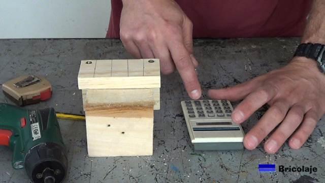 calculando la distancia para una correcta colocación de los tarugos, espigas o tubillones en la madera a unir