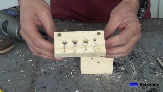 agujeros abiertos para colocar los casquillos