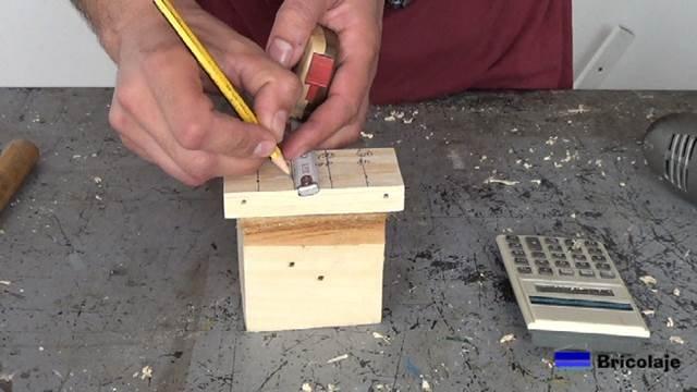 marcamos el lugar donde colocar los casquillos en función del tarugo, espigas o tubillón a colocar