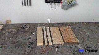 parte de las piezas de madera que necesitaremos para hacer la base de madera con ruedas