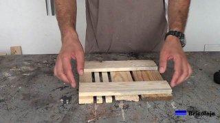piezas de madera para hacer la base de madera con ruedas para macetas