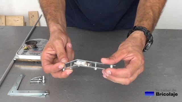 escuadra magnética casera para soldar estructuras metálicas