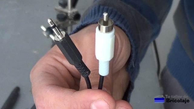 conector mini jack a rca mono
