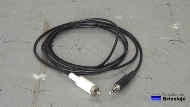 Cómo hacer un cable mini jack a rca mono