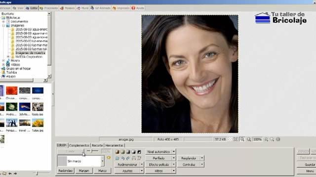 editando una foto en el Photoscape