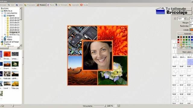 realizando un collage fotográfico con el Photoscape