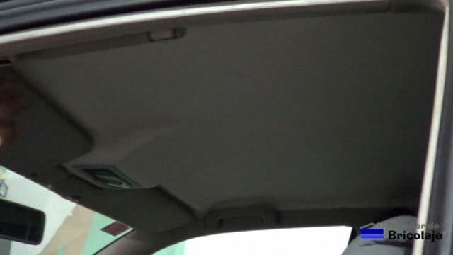 nuevo tapizado del techo del coche