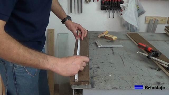 madera de palets para realizar el espejo