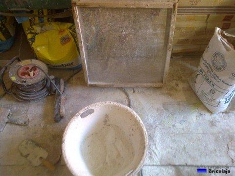 materiales necesarios para preparar la lechada