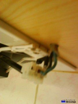 vista lateral del extractor de aire para la cocina