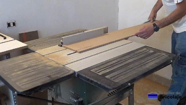 cortando la base de la plantilla