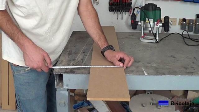 midiendo el centro de la plantilla