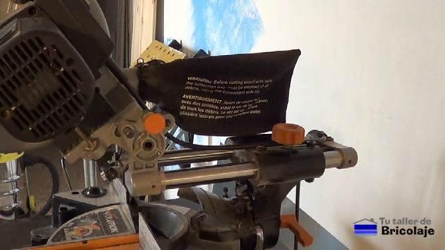 sistema telescópica de la ingletadora multifunción