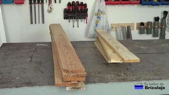 madera de palet para hacer las sillas de terraza