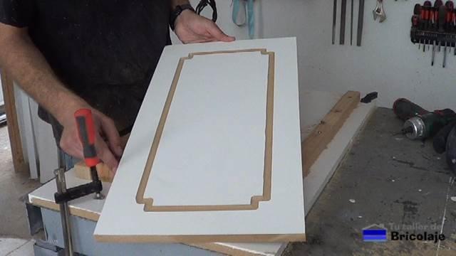 segundo ejemplo de dibujo en madera mdf