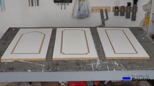 Plantilla para hacer dibujos en puertas de madera mdf