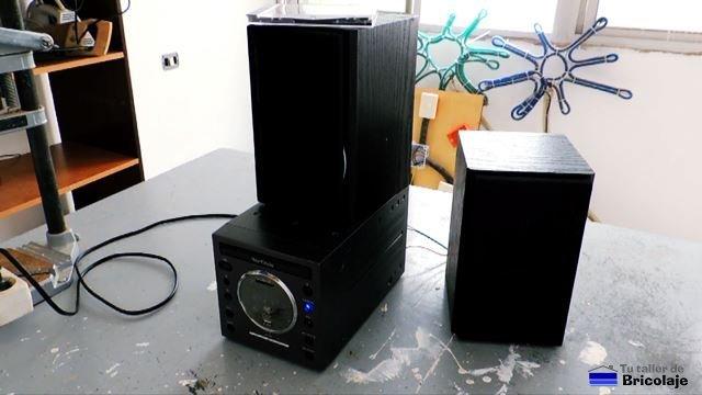 reparación básica de un equipo de audio