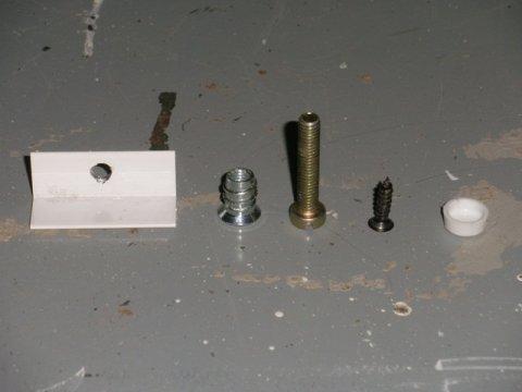 tornillería y accesorios necesarios para la fabricación