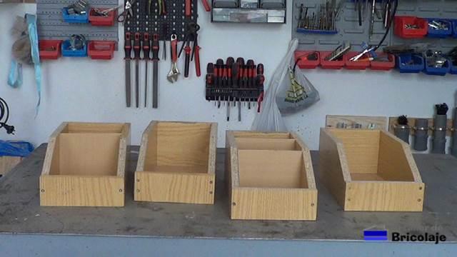 C mo hacer una cajitas de madera para organizar el taller - Cajas para guardar herramientas ...