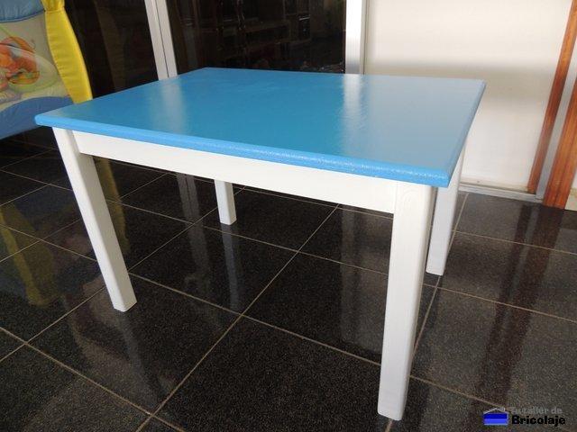 C mo hacer una mesa de madera para ni os - Mesa madera ninos ...