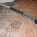 Instalación de tubo para salida de aguas residuales