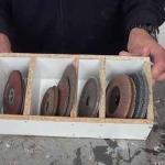 Cómo hacer un organizador para los discos de la amoladora