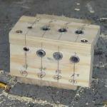 Cómo hacer una plantilla para colocar tarugos o espigas. 2/2