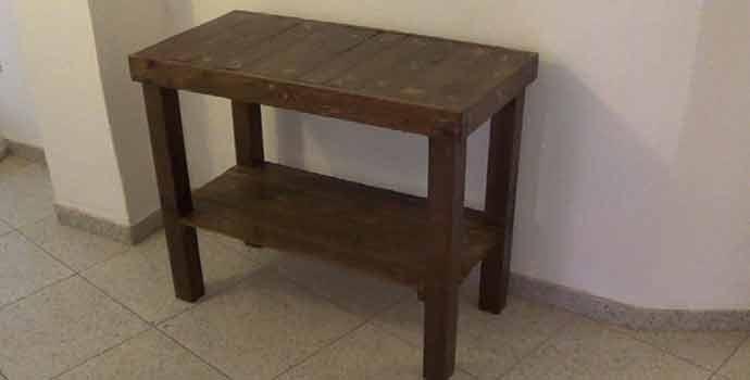 C mo hacer una mesa recibidor con palets - Como hacer un recibidor original ...