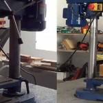 Modificación a taladro de columna: aumentar zona de trabajo