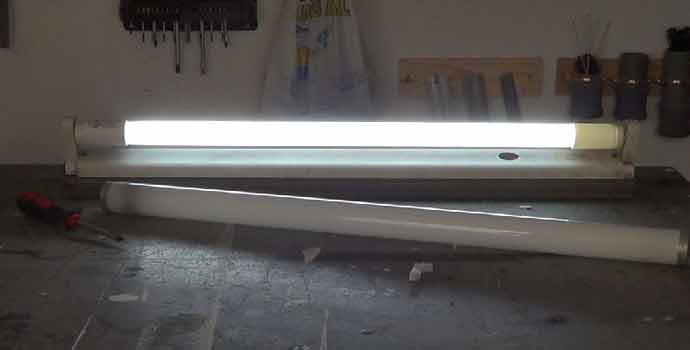 Cómo sustituir un  fluorescente convencional por uno led